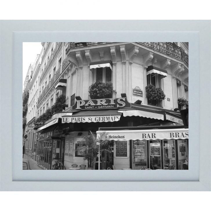 Quadro Contemporâneo Paris 23 x 28 cm Branco