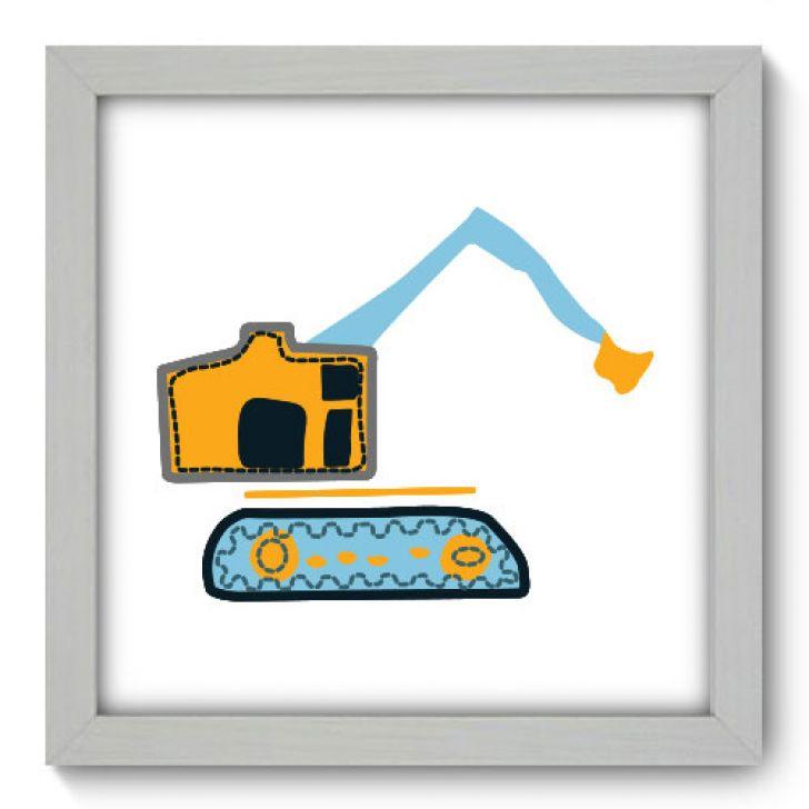 Quadro Decorativo - Escavadeira - 004qdbb