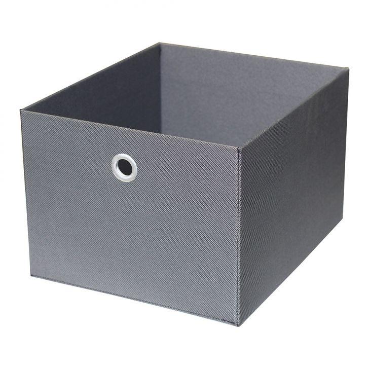 Caixa Organizadora Retangular Média Cinza 20x27x32 Cm Acasa Móveis