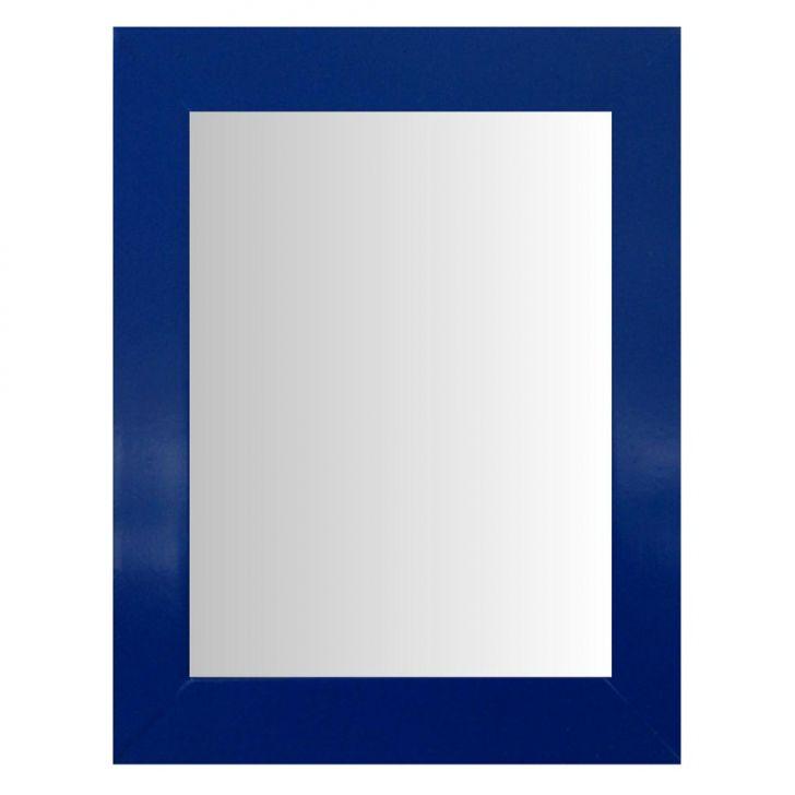 Espelho Moldura Madeira Lisa Raso 16292 Azul Art Shop