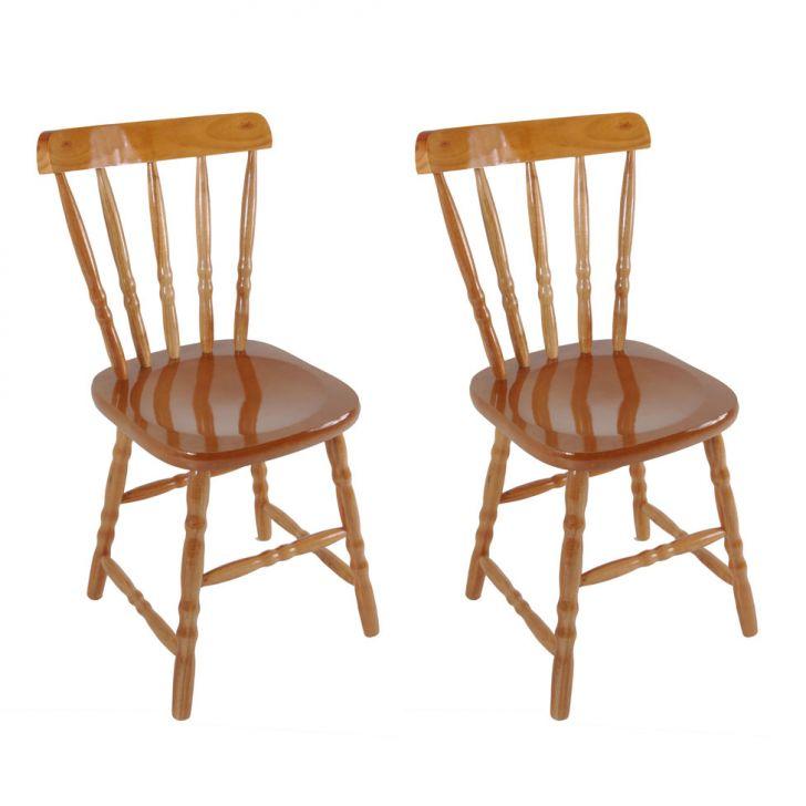 Conjunto 2 Cadeiras De Cozinha Dalas Mel
