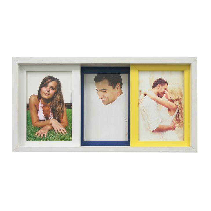 Porta-retrato Para 3 Fotos Pisa Colorido