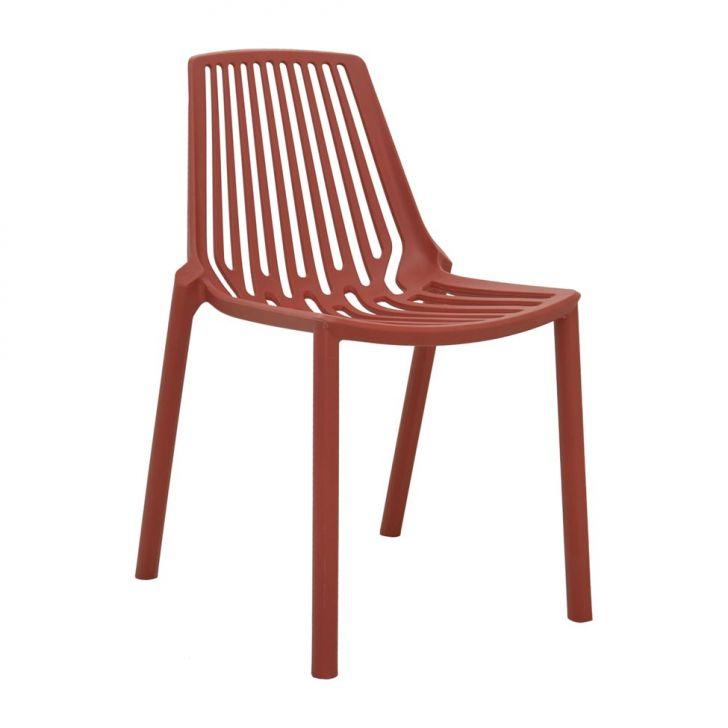 Cadeira Morgana Laranja Telha Cod: 7899517416373