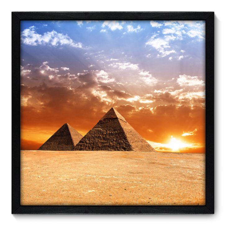 Quadro Decorativo - Pirâmides - 50cm x 50cm - 025qnmcp