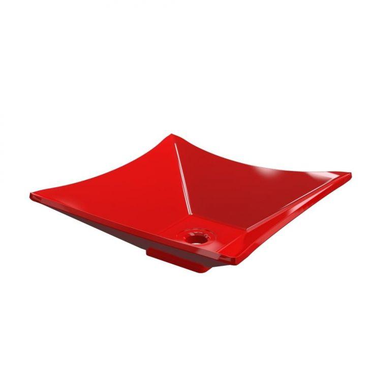 Kit Cuba L34 Com Torneira Link 1062 Metal 1/4 Volta Vermelho