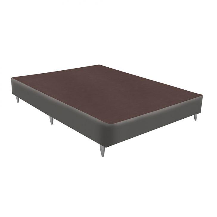 Base Para Cama Box Viúva Velvet (30x128x188) Cinza