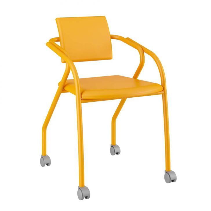 Cadeira De Escritório 1713 Amarelo Ouro