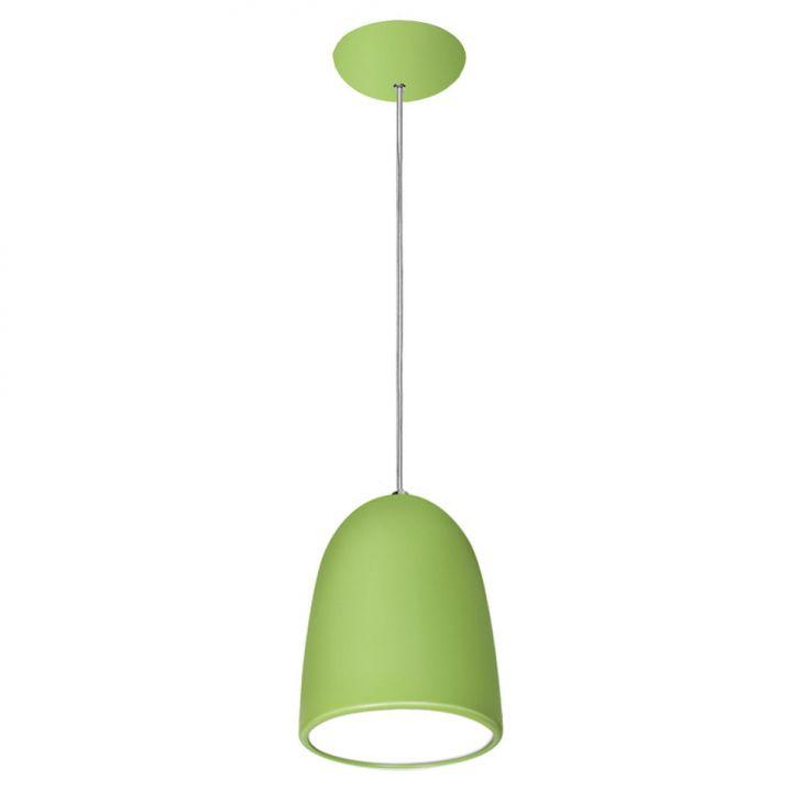 Pendente 7741 Verde 1 Lâmpada Bivolt