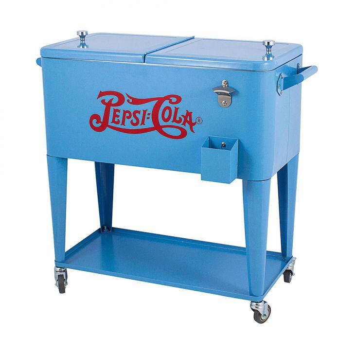 Cooler Pepsi Ferro e Plástico Azul Fullway