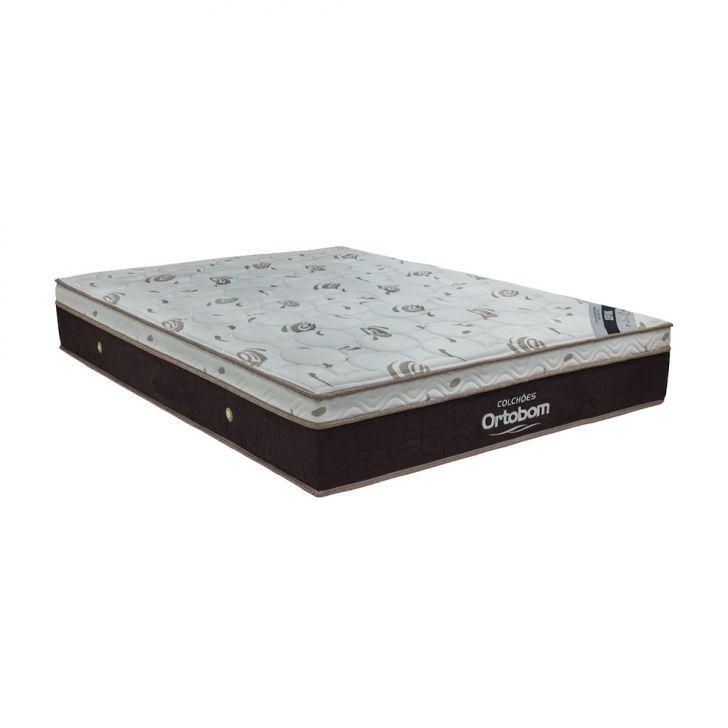 Colchão Casal Molas Ensacada Sleep King (32x138x188) Marrom