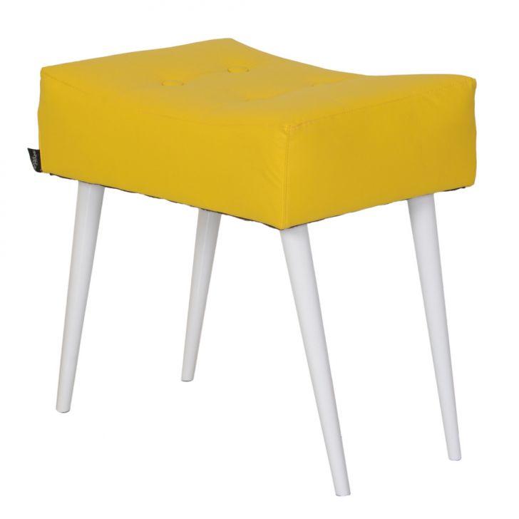 Puff Dani Pé Palito Amarelo E Branco