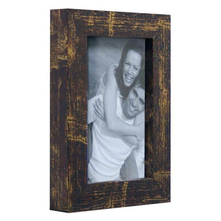 Porta Retrato De Mesa Para Foto 10x15 Cm Marrom