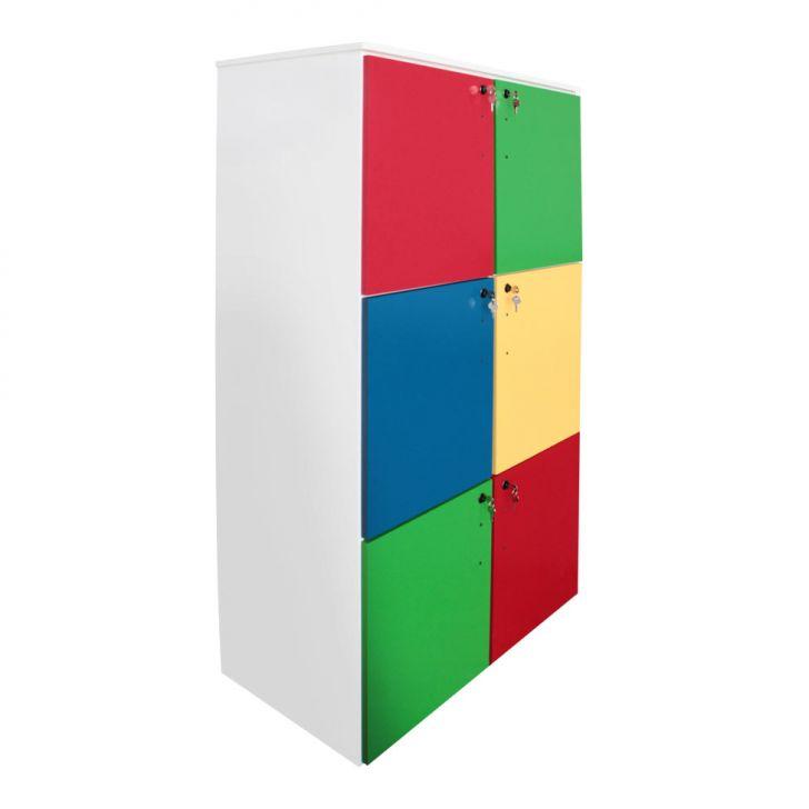 Armário Escolar Carlu 6 Portas Colorido