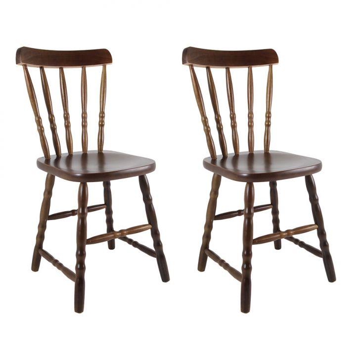 Conjunto 2 Cadeiras De Cozinha Dalas Imbuia