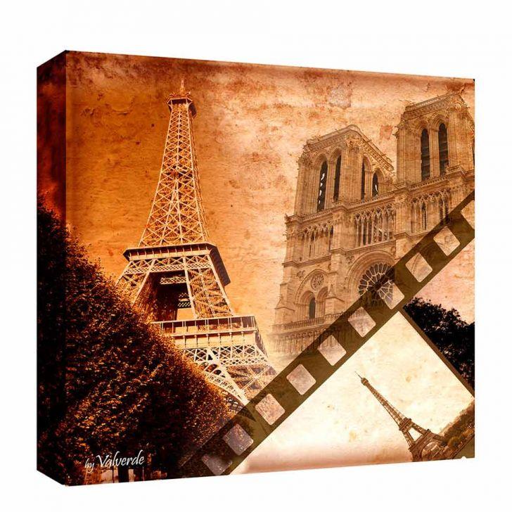 Quadro Impressão Digital Paris Mix Imagens Terra 30x30cm Uniart