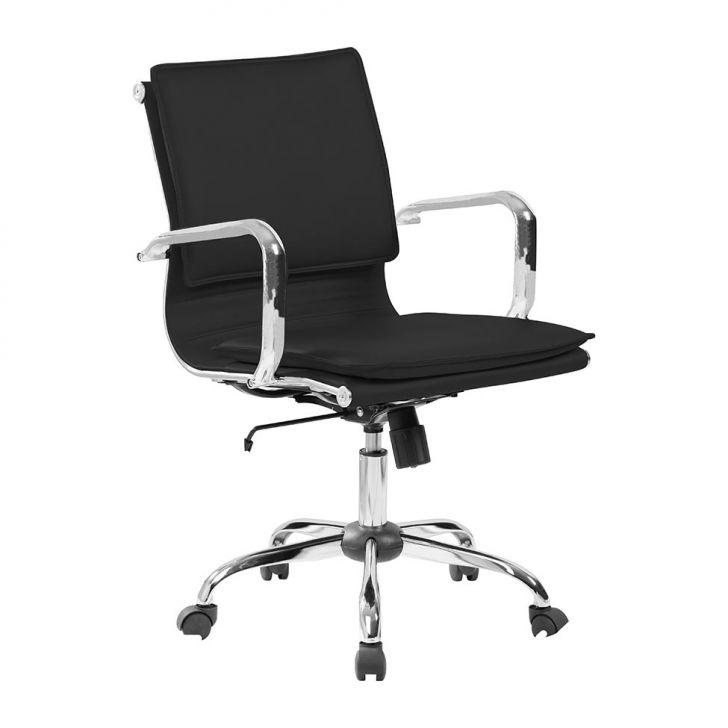 Cadeira De Escritório Diretor Giratória Eames Comfort Preta