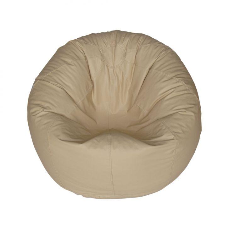Puff Redondo Pop Corino Marfim
