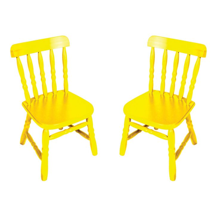 Conjunto 2 Cadeiras Infantil Country Amarela