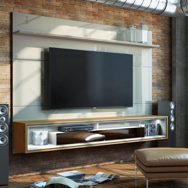 Painel Para Tv 60 Polegadas Opera Iv 2 Gv Off White Com Freijó Touch