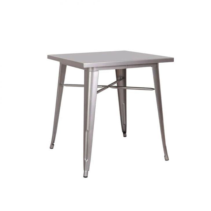 Mesa De Cozinha Quadrada Iron Cinza 70 Cm