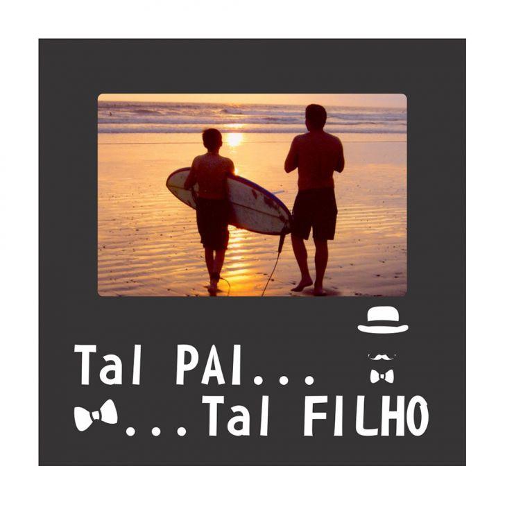 Porta Retrato Tal Pai Tal Filho Preto 20x20cm