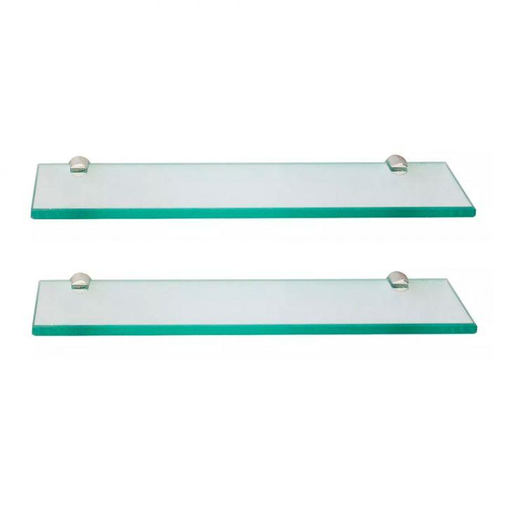 Conjunto Com 2 Prateleiras De Vidro Arpex Incolor (40x15)