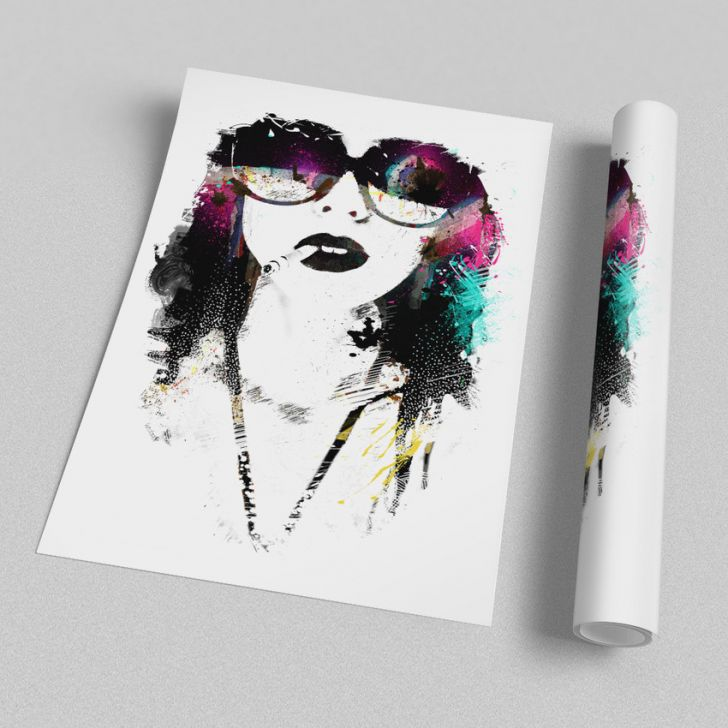 Poster A4 Smoking Colors