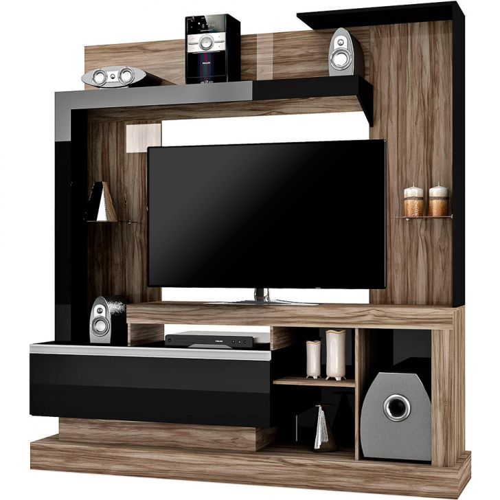 Home Theater O Cinema Na Sua Casa: Estante Para Home Theater Bravo Carvalho & Preto