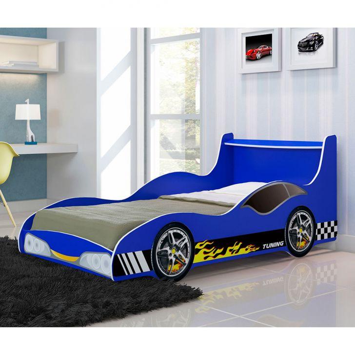 Cama infantil carro tuning azul - Cama coche infantil ...