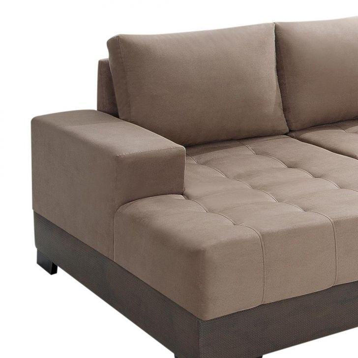 Sof de canto 5 lugares com chaise patr cia suede chocolate for Sofa 5 lugares com chaise