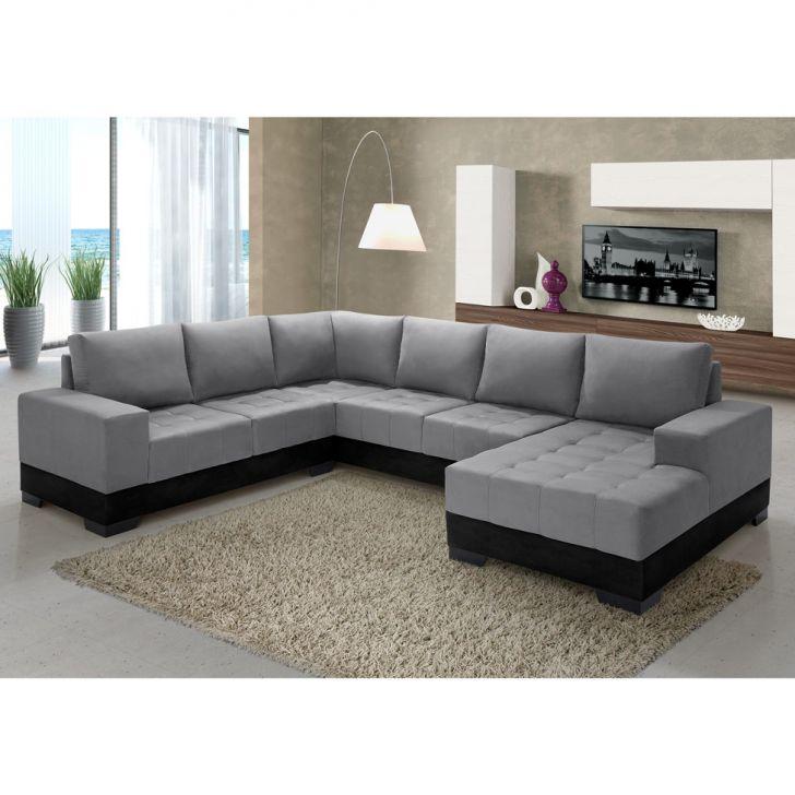 sof de canto 5 lugares com chaise patr cia suede preto
