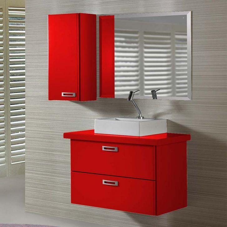 Gabinete de Banheiro Kenzo Vermelho Maxima -> Gabinete De Banheiro Mobly