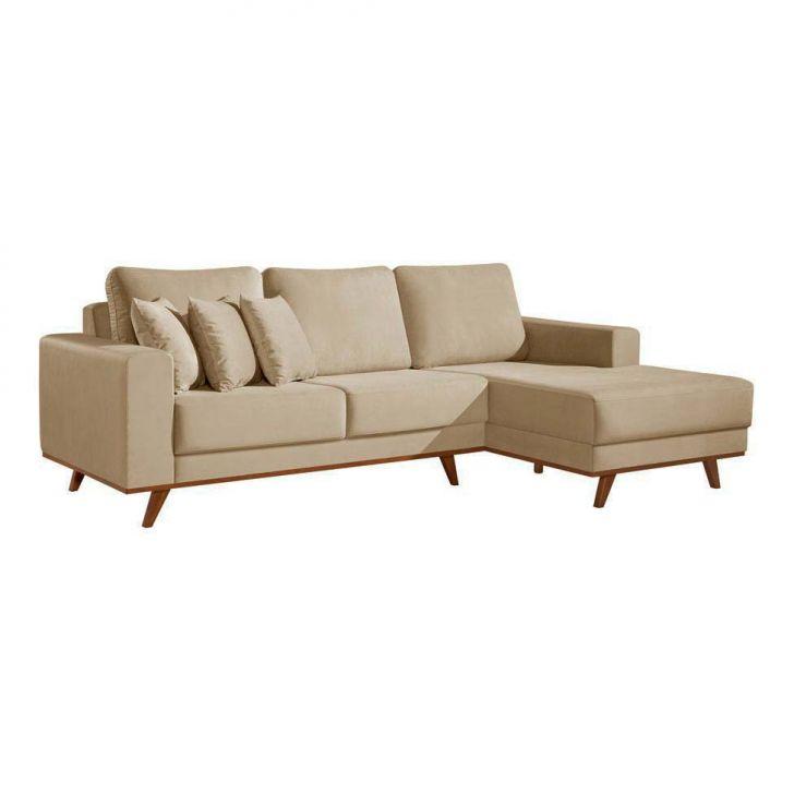 Sof s em oferta mais de 1700 modelos mobly for Sofas com chaise e puff