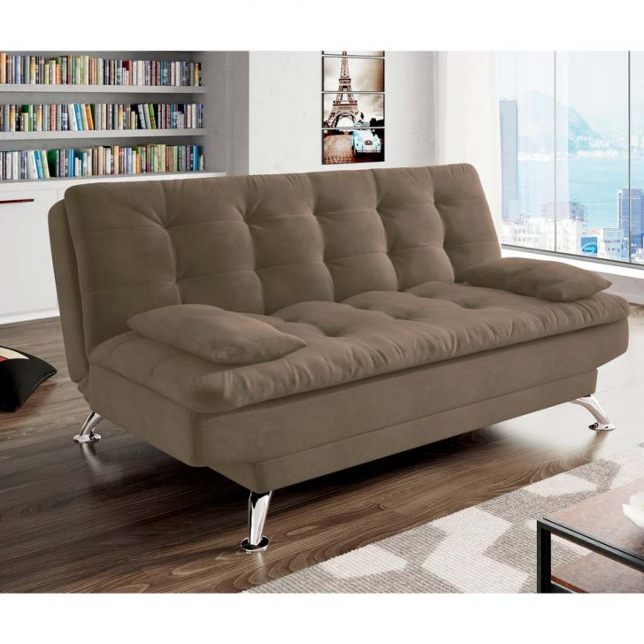Sof cama 2 lugares casal premium suede castanho - Sofas cama de 1 20 cm ...