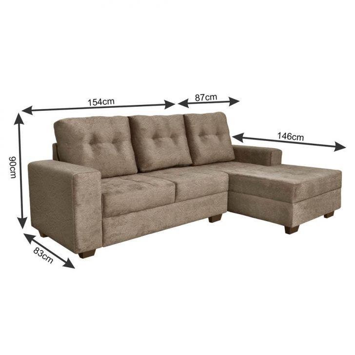 sof 3 lugares com chaise e puff guatemala suede amassado