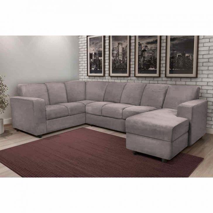 sof de canto 6 lugares com chaise astor suede marrom serrano