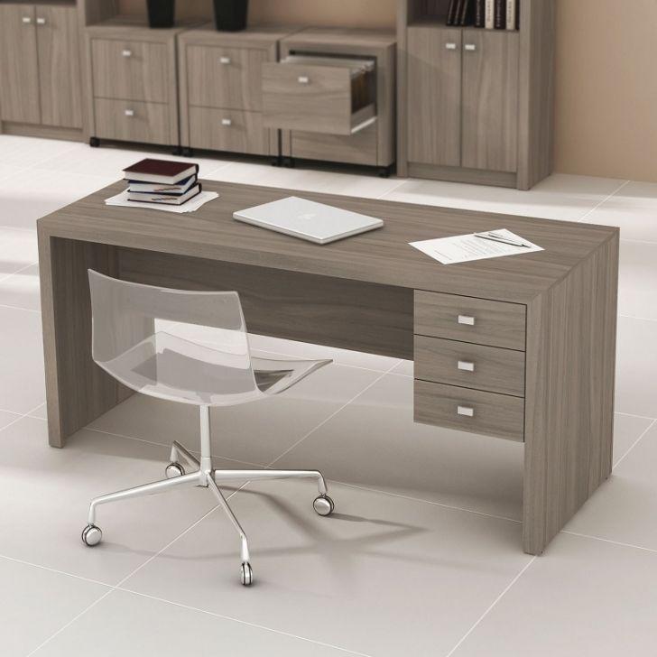 Mesa de escrit rio com gavetas tecno mobili carvalho - Escritorio de mesa ...