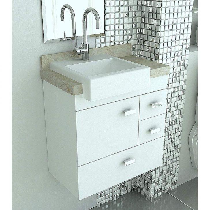 Gabinete Com Pia Para Banheiro Travertino Branco -> Pia Para Banheiro Tumelero