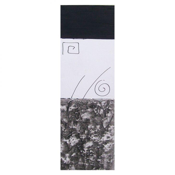 Adesivo De Parade Nuvem ~ Quadro Artesanal com Textura Abstrato Preto 20x60cm Uniart