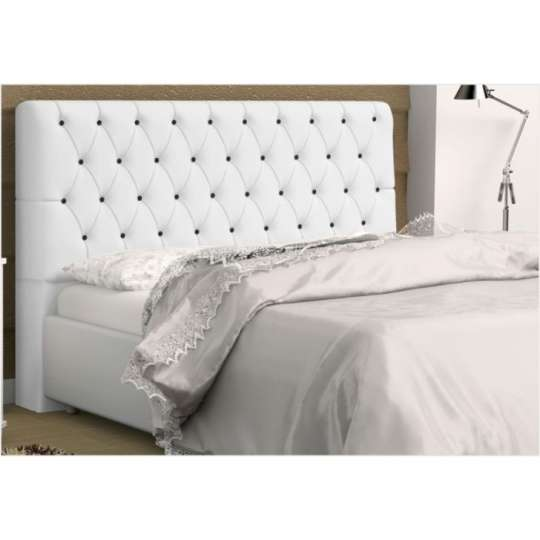 Cabeceira lady para cama box queen size 160 cm branca com for Tipos de camas queen