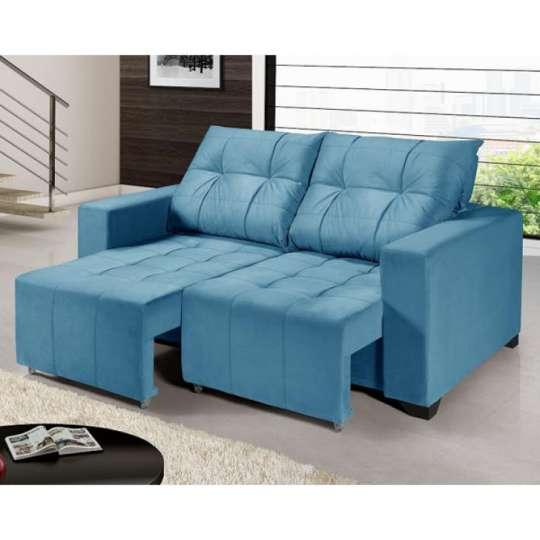 Sof retr til e reclin vel h ctor azul turquesa for Sofa azul turquesa