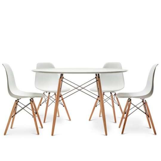Conjunto mesa eiffel eames branca 1 20m e 4 cadeiras for Bases para mesas chile