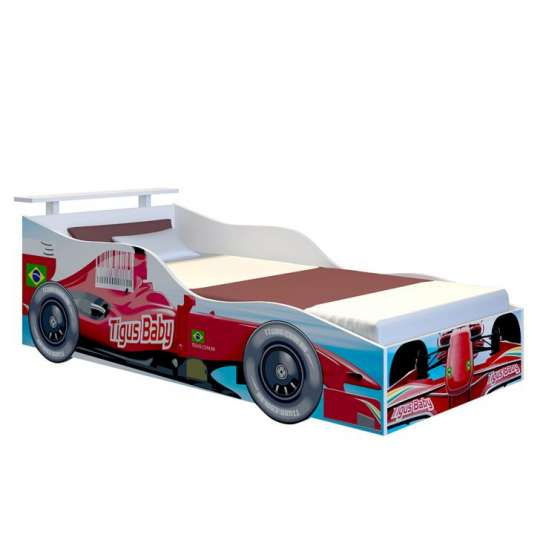 Cama carro infantil red branco - Cama coche infantil ...